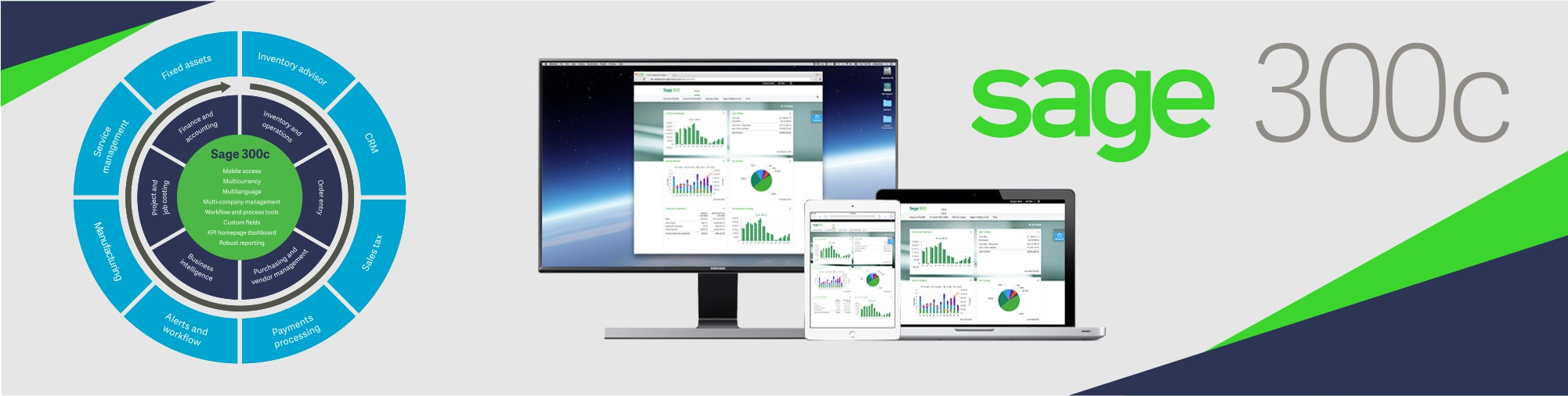 Sage 300 Cloud | Your business Software solution on Multiple devices